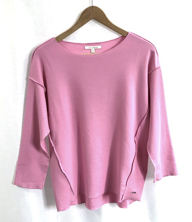 CHANDAIL TRICOT MCH TOMBANTE OVERSIZE rose