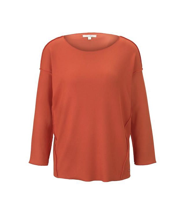 CHANDAIL TRICOT MCH TOMBANTE OVERSIZE rouge