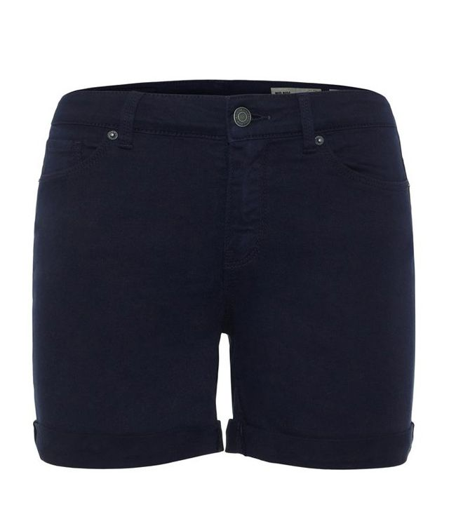 BERMUDA SHORT COUPE JEANS COTON STRETCH marine