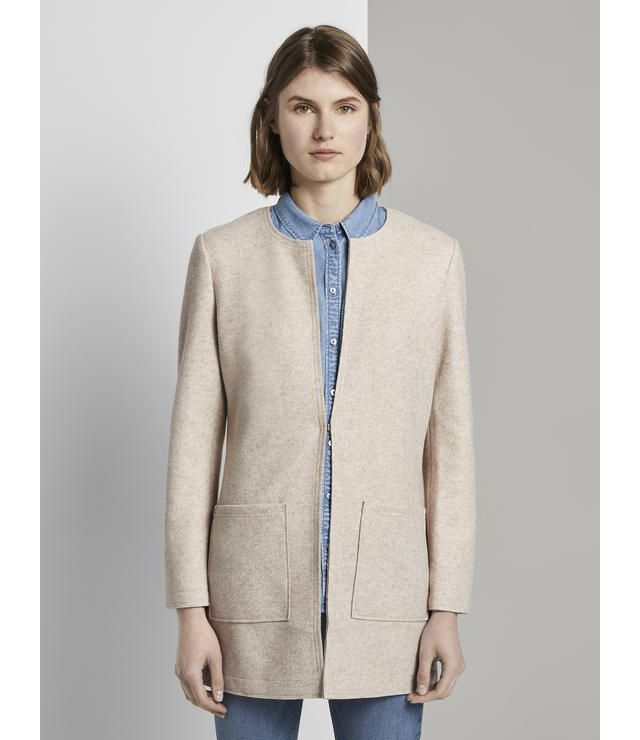 CARDIGAN LAINAGE OUVERT 2 POCHES beige