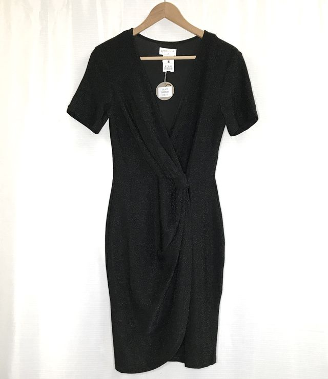 ROBE COURTE CHIC NOEUD TAILLE MCH COURTE noir