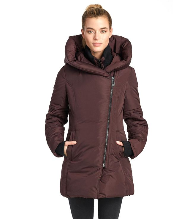 MANTEAU SPORT/CHIC MI-LONG UNI prune