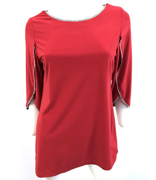 CAMISOLE FANCY CHIC UNI PIERRES CONTOUR rouge