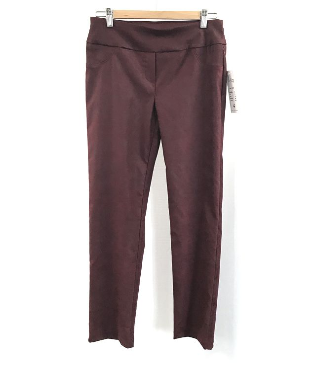 PANTALON SPORT CHIC LOOK SUEDE bordeau