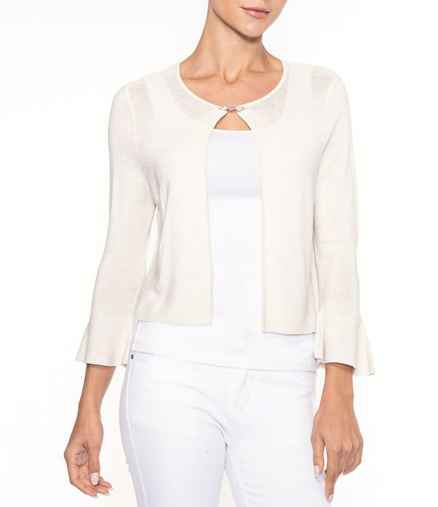 CARDIGAN CHIC PIERRE ATTACHE LUREX SABLE