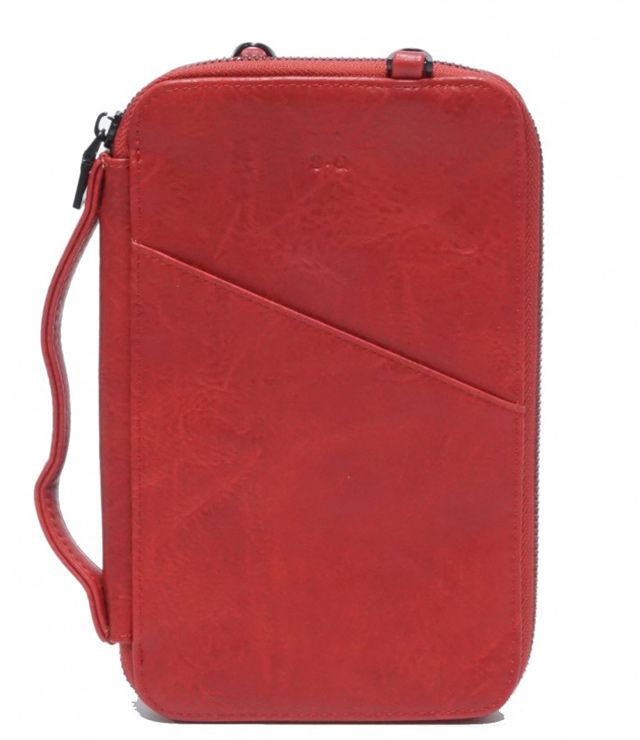 PORTE PASSPORT FORMAT MOYEN rouge
