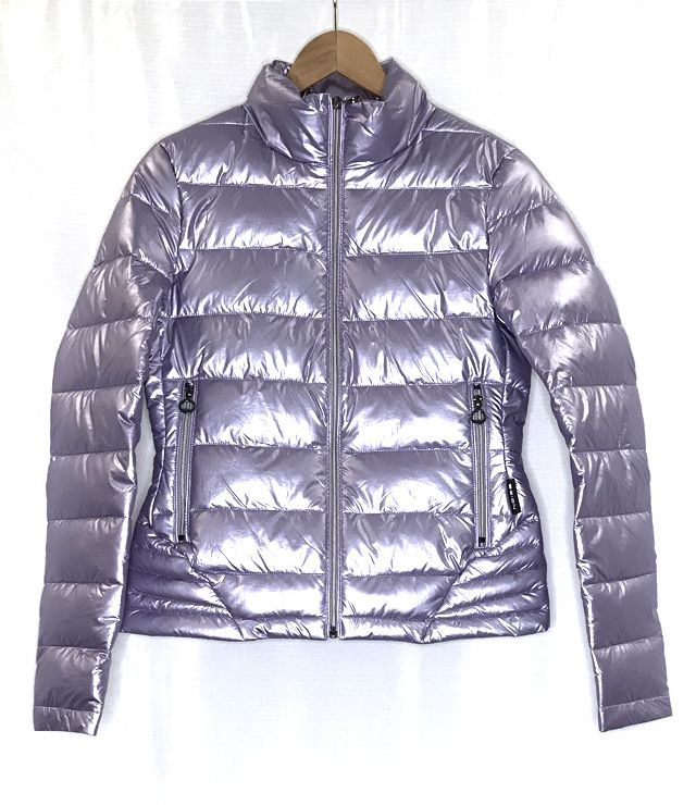 MANTEAU SPORT/CHIC PUFFY METALLIQUE LILAS