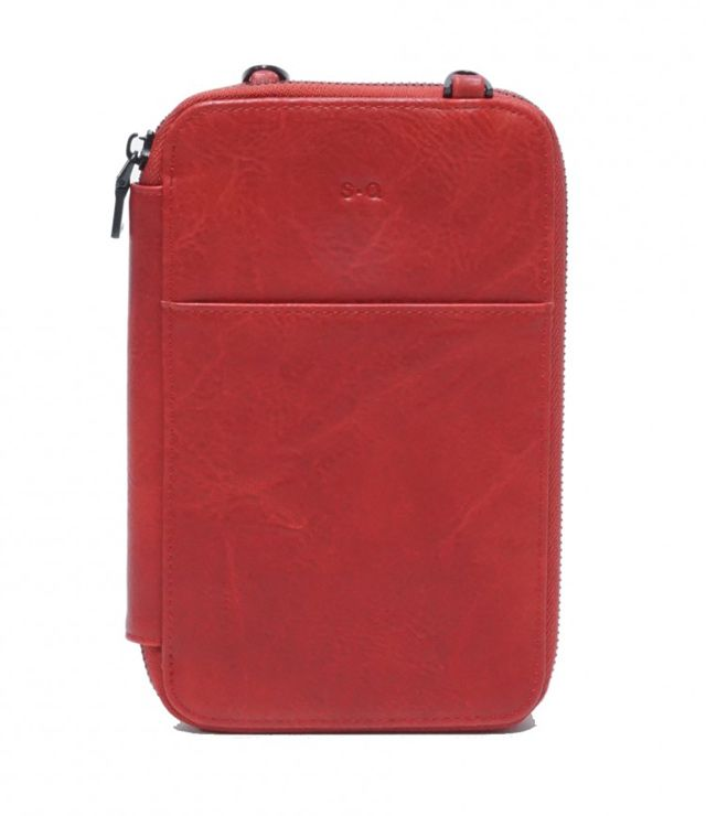 PORTE PASSPORT FORMAT PETIT rouge