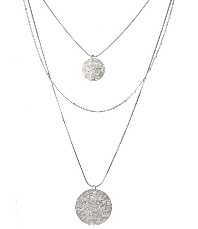 COLLIER LONG 3 RANGS LÉGER